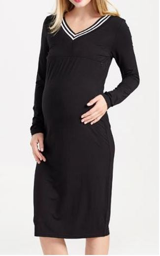 V Neck Jumper Dress
