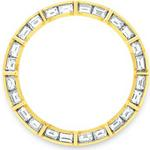 Custom 18k yellow gold 1.75ct baguette diamond bezel for ladies Rolex