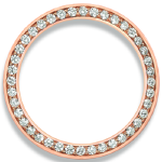 CUSTOM .80ct DIAMOND BEZEL FOR 26mm ROLEX (Rose Gold)
