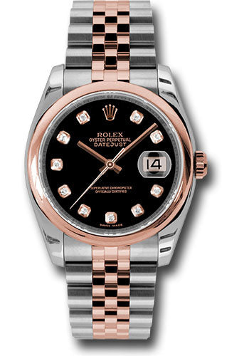 Rolex Steel and Rose Gold Datejust-36mm #116201