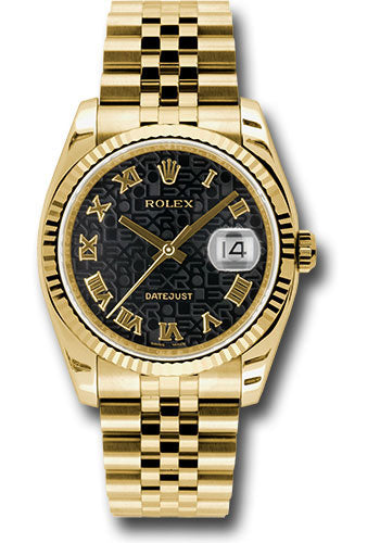 Rolex 18k YG Datejust -36mm #116238