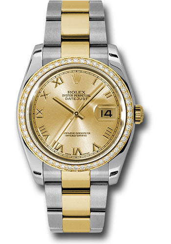 Rolex Steel and 18k YG Datejust- 36mm #116243