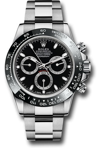 Rolex Stainless Steel Daytona with Black Dial and Bezel #116500LN bk
