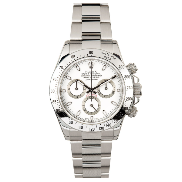 Rolex Stainless Steel Daytona #116520 White Dial