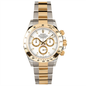 Rolex Steel and 18K YG Daytona #116523 White Dial