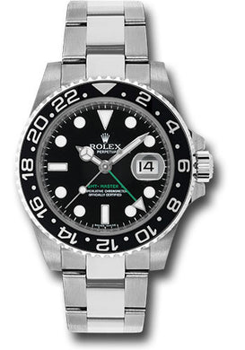 Rolex Stainless Steel GMT-Master II Black on #116710bk