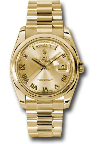 Rolex 18k YG Day-Date President -36mm #118208