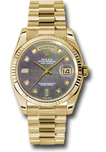 Rolex 18k YG Day-Date President -36mm #118238