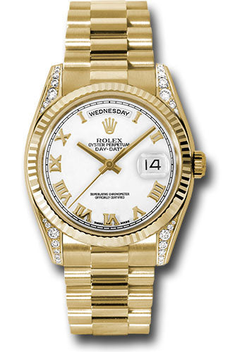 Rolex 18k YG Day-Date President - 36mm #118338 wrp