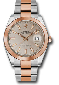 Rolex Steel and 18k RG Datejust 41mm #126301 suio