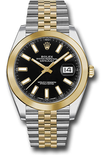 Rolex Steel 18k YG Datejust 41mm #126303 bkij