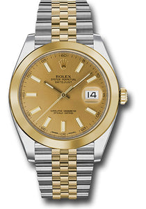 Rolex Steel 18k YG Datejust 41mm #126303 chij