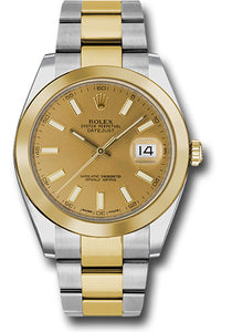 Rolex Steel 18k YG Datejust 41mm #126303 chio
