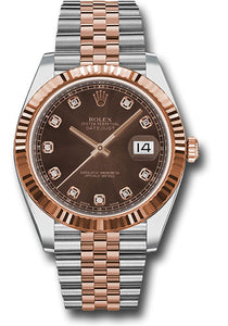 Rolex Steel 18k RG Datejust 41mm #126331 chodj