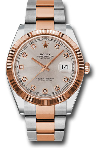 Rolex Steel 18k RG Datejust 41mm #126331 sudo