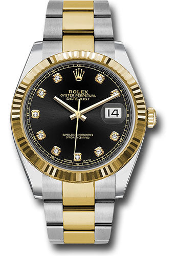 Rolex Steel 18k RG Datejust 41mm #126333 bkio
