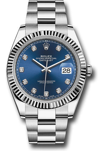 Rolex Steel 18k WG Datejust 41mm #126334 bldo