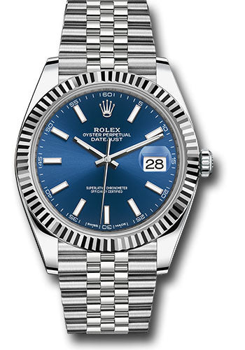 Rolex Steel 18k WG Datejust 41mm #126334 blij