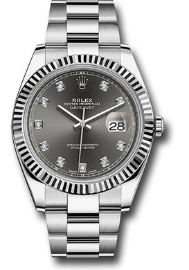 Rolex Steel 18k WG Datejust 41mm #126334 dkrdo