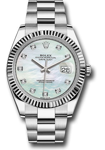 Rolex Steel 18k WG Datejust 41mm #126334 wmdo