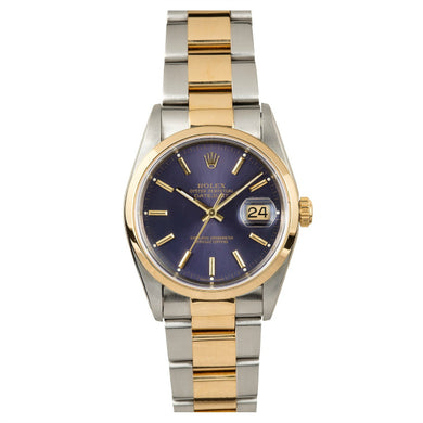 Rolex Steel and Gold Datejust #16203 Blue Oyster