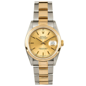 Rolex Steel and Gold Datejust #16203 Champ Dial