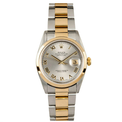 Rolex Steel and Gold Datejust #16203 Silver Dial