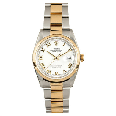 Rolex Steel and Gold Datejust #16203 White Dial
