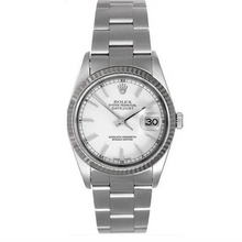 Rolex Steel and White Gold Datejust #16234 White Dial