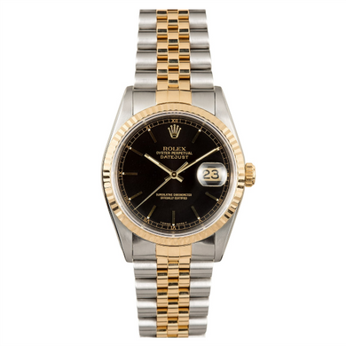 Rolex Steel and Gold Datejust #16233 Black Dial