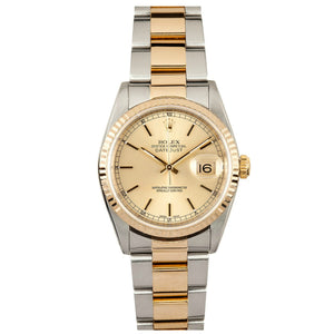 Rolex Steel and Gold Datejust #16233 Champ Dial
