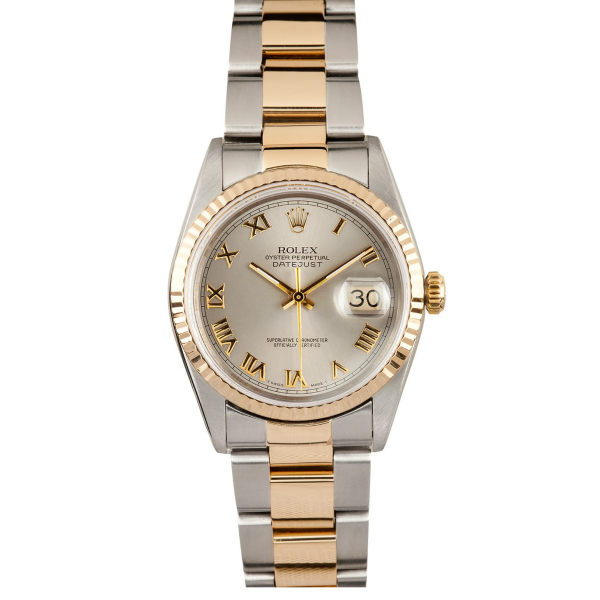 Rolex Steel and Gold Datejust #16233 Silver Dial