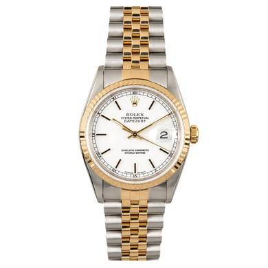 Rolex Steel and Gold Datejust #16233 White Dial