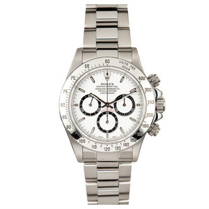 Rolex Steel Daytona with Zenith Movement #16520 White Dial