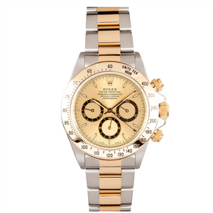 Rolex Steel and Gold Daytona with Zenith Movement #16523 Champ Dial