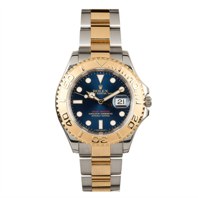 Rolex Steel and 18k YG Yachtmaster #16623 Blue Dial