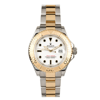 Rolex Steel and 18k YG Yachtmaster #16623 White Dial