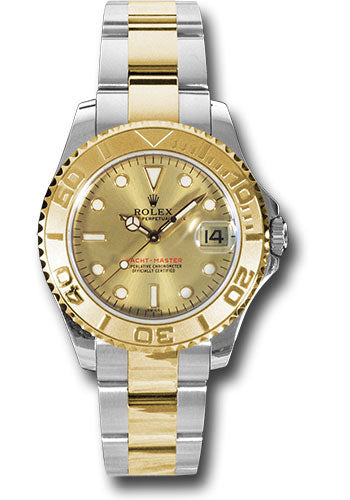 Rolex Steel and 18k YG Yachtmaster - 35mm #168623 ch