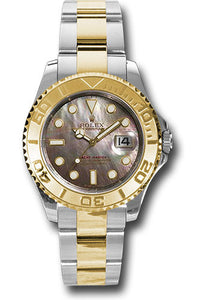 Rolex Steel and 18k YG Yachtmaster - 35mm #168623 dkm