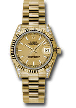 Rolex 18k YG Datejust - 31mm - Mid-Size #178238 chip