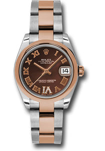 Rolex Steel and RG Datejust - 31mm - Mid-Size #178241 chdro