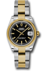 Rolex Steel and YG Datejust - 31mm - Mid-Size #178243 bkio