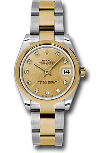 Rolex Steel and YG Datejust - 31mm - Mid-Size #178243 chdo