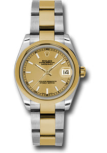 Rolex Steel and YG Datejust - 31mm - Mid-Size #178243 chio