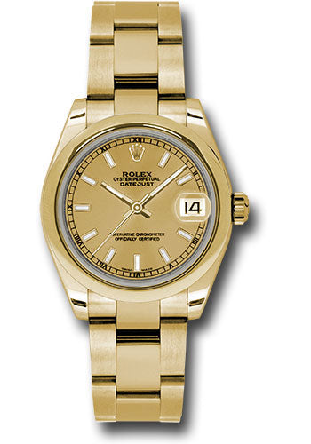 Rolex 18k YG Datejust - 31mm - Mid-Size #178248 chio