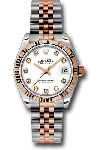 Rolex Steel and 18k RG Datejust - 31mm - Mid-Size #178271 wdj