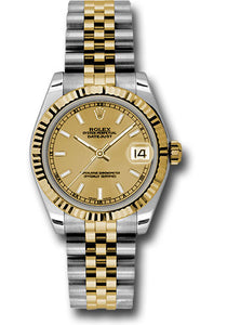 Rolex Steel and 18k YG Datejust - 31mm - Mid-Size #178273 chij