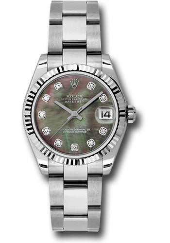Rolex Steel and 18k WG Datejust - 31mm - Mid-Size #178274 dkmdo