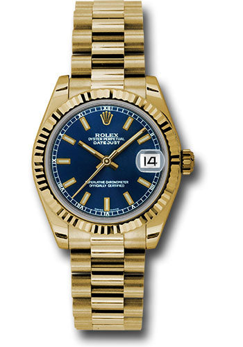 Rolex 18k YG Datejust - 31mm - Mid-Size #178278 blip
