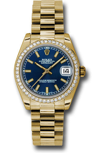 Rolex 18k WG & Diamond Datejust - 31mm - Mid-Size #178288 blip